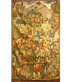 19th Century Cembroidery and painted Tapestry